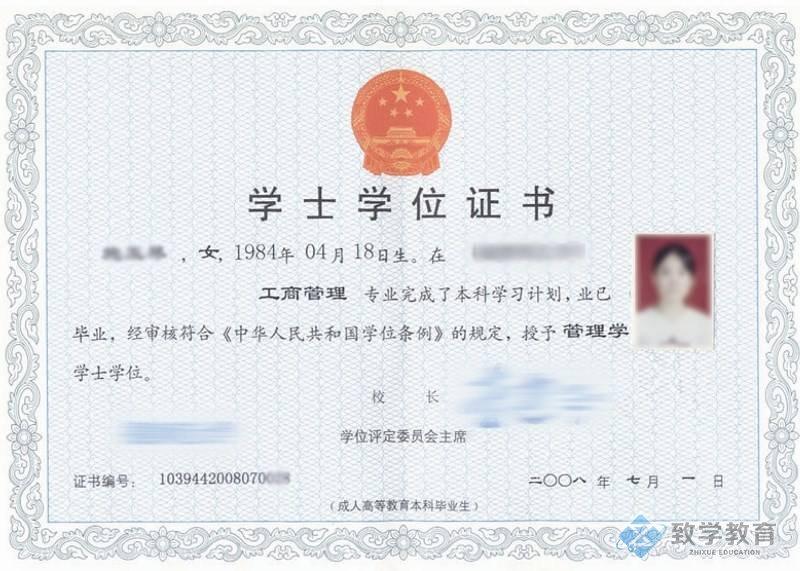 成人高考学士学位证书